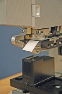 Strouse die cuts this adhesive for Lexmark to for their Inkjet cartridges.