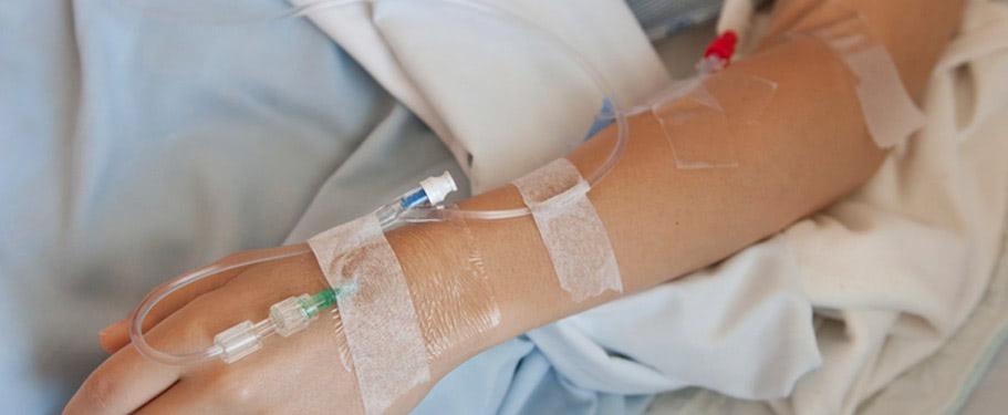 medical adhesive tape on skin