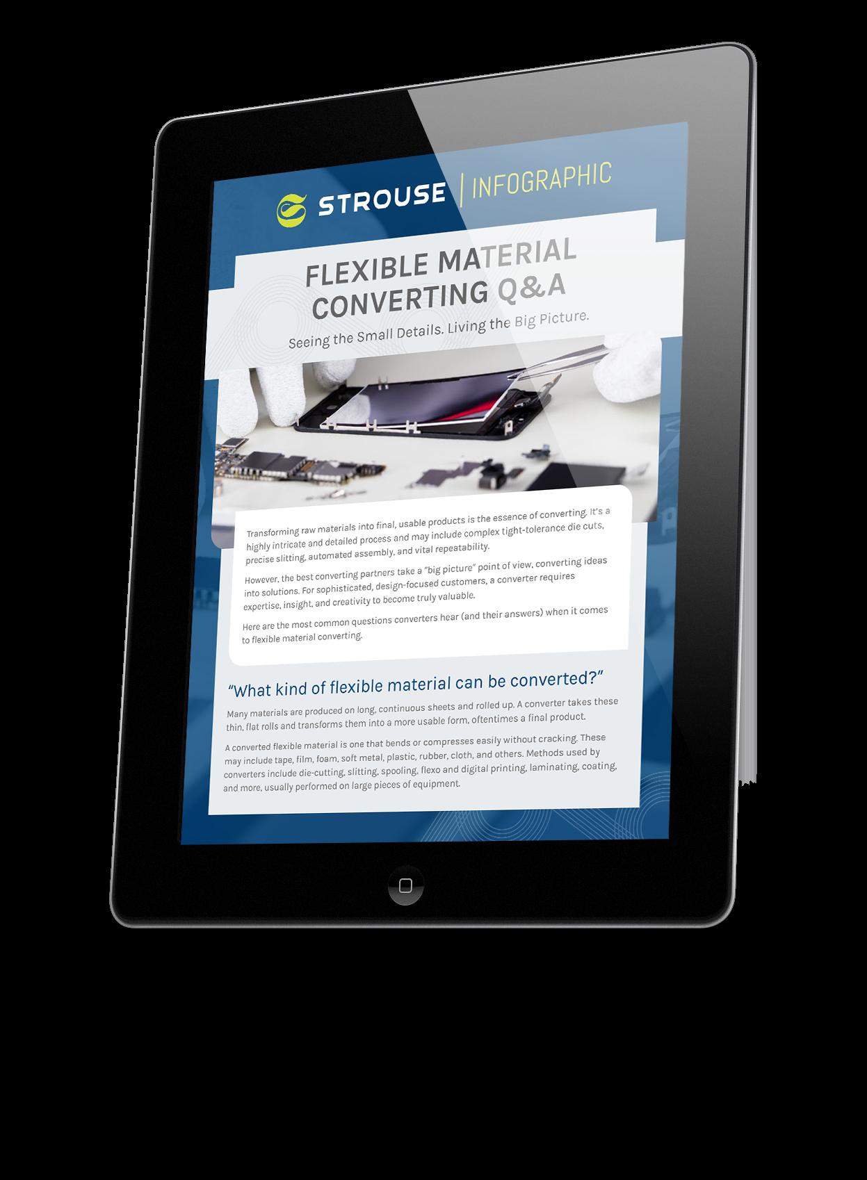 Flexible Material Converting Q & A on an iPad